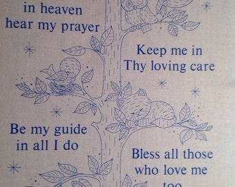 "Vintage Creative Circle ""Child's Prayer"" Crewel partial kit"