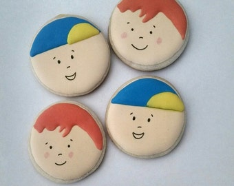 Caillou and Rosie Cookies