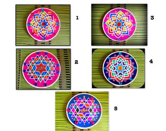 Indian Kolam,Indian Stickers,Hridaya Kamalam sticker