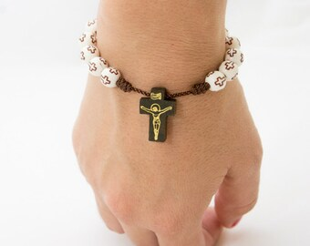 Rosary Bracelet  with Cord