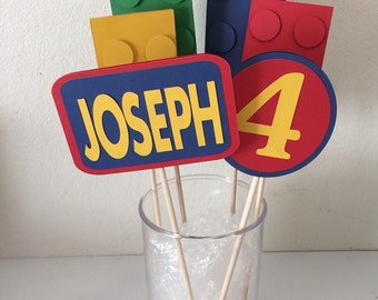 Lego centerpiece set (6pc) name and age included