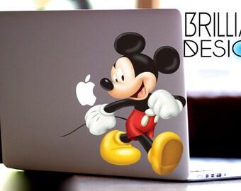 Macbook Decal Mickey Etsy