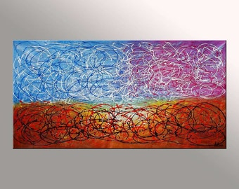 Canvas Wall Art, Abstract Art, Wall Art, Contemporary Painting, Abstract Painting, Wall Art, Oil Painting, Large Art, Pallete Knife Painting