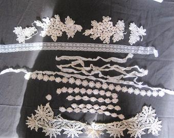 vintage elements scraps pieces of lace and trims