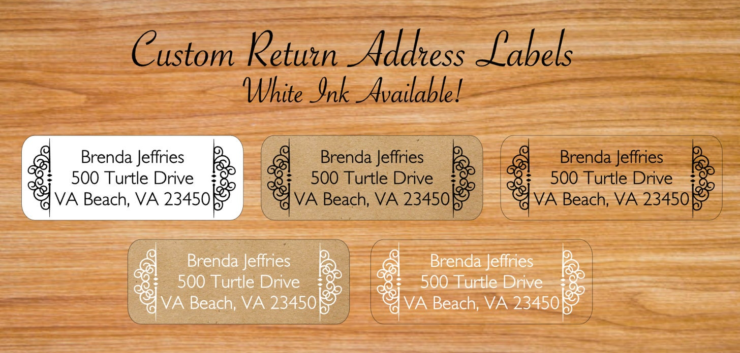 Return address labels add a personal touch to your letters and packages. Create your custom return labels by uploading your designs or choose from thousands of customizable templates. These address stickers will save you plenty of time when sending out invitations and holiday cards!