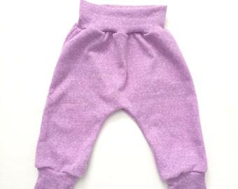 French Terry Knit Baby Harem Leggings pants sweats sweat pants purple lavender