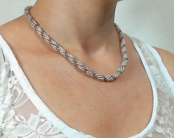 Beading Beaded Necklace Beaded harness Jewelry Gift for her Gift for Mom Handmade Jewelry