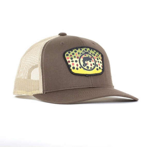 Fly fishing trucker hatfly fishing hatsmens by fishonenergyco for Trout fishing hats