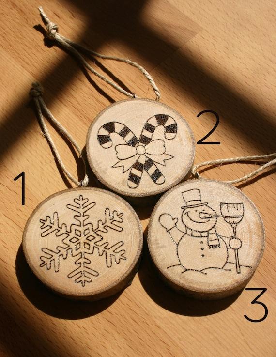 Decorazioni natalizie in legno pirografato di jollygoodcraft - Decorazioni natalizie in legno ...