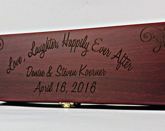 Personalized Wood Wine Box with tools - Wedding shower, new home, christmas gift, anniversary, bridal shower, Birthday gift
