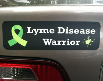 Lyme Disease Warrior Car Magnet