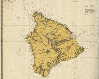 Hawaii Historical Map 1917