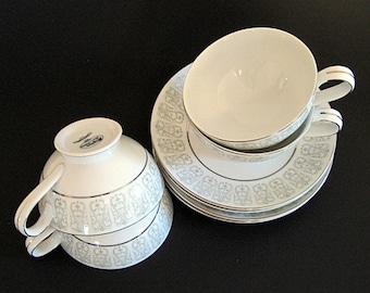 3 Vintage Mikasa Teacups & Saucers Fine China Tea Party