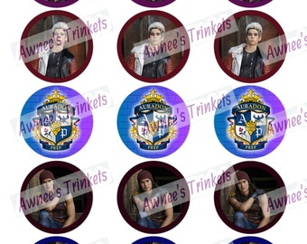 Set of Disney Descendants Cupcake toppers 2 inch rounds