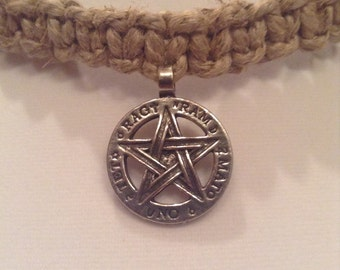 Tetragrammaton Thick Hemp Necklace