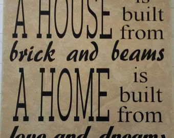 A House A Home ceramic tile-FREE SHIPPING
