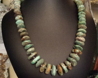 One strand beaded turquoise necklace