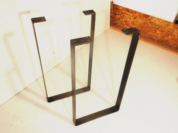 Set of flat steel u shaped metal table by