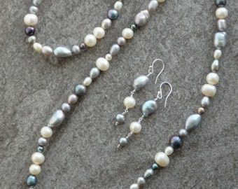 Freshwater Pearl Necklace, Pearl Earring, Matching Pearls, Pearl Bracelet, Bridal Pearls, Wedding Pearls