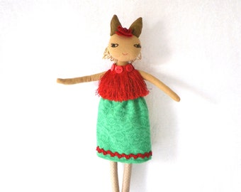 doll, rag doll, puppe, stoffpuppe, fabric doll
