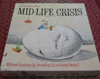 Vintage Can You Survive Your Mid-Life Crisis Board Game 1982 Fun Party Game