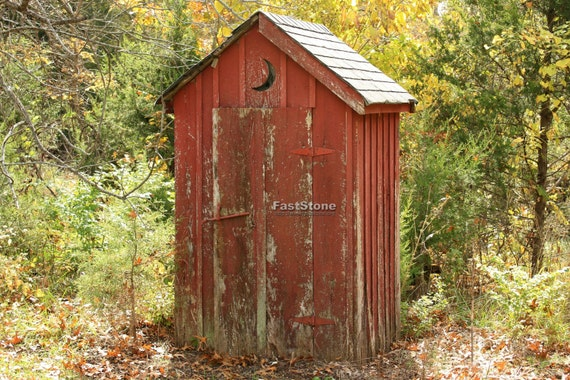 outhouse photograph bathroom home decor photo vintage. Black Bedroom Furniture Sets. Home Design Ideas