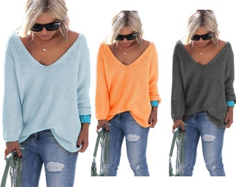 Sexy V-neck Sweater