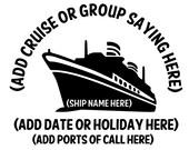Custom Adult Cruise T-shirts