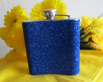 Blue Flask, Flask, Dodger Blue, Liquor, Brandy