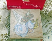 Stampendous Angel Stamp, New and In Original Packaging, OOP From 1996, Scrapbooking, Cardmaking, Crafting, Fabric Stamping  #541 OK