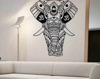 Elephant Wall Decal OM Sticker Art Decor Bedroom Design Mural good vibes home decor art