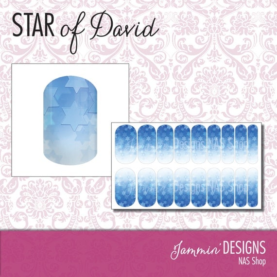 Star of David NAS (Nail Art Studio) Design