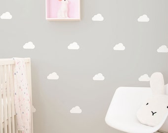 White clouds wall vinyl stickers / decals