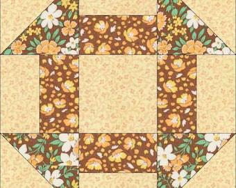 Churn Dash Block - Churn Dash Pattern - Instant Download - Paper Pieced Pattern - Foundation Pattern - Quilt Pattern - Block Pattern