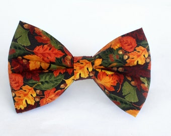 Fall Bow Tie, Autumn Bow Tie, Bowtie, Dog Bow Tie, Mens Bow Tie, Boys Bow Tie, Kids Bow Tie, Toddler Bow Tie, Fun Bow Tie, For Him