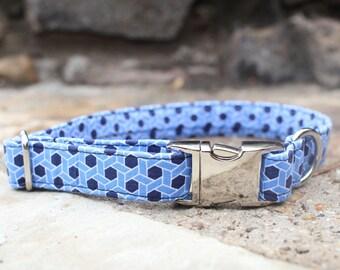 Geometric Collar, Male Dog Collar, Pet Collar, Dog Collar