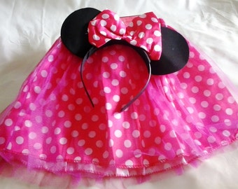 Set Minnie Mouse: Skirt and Ears