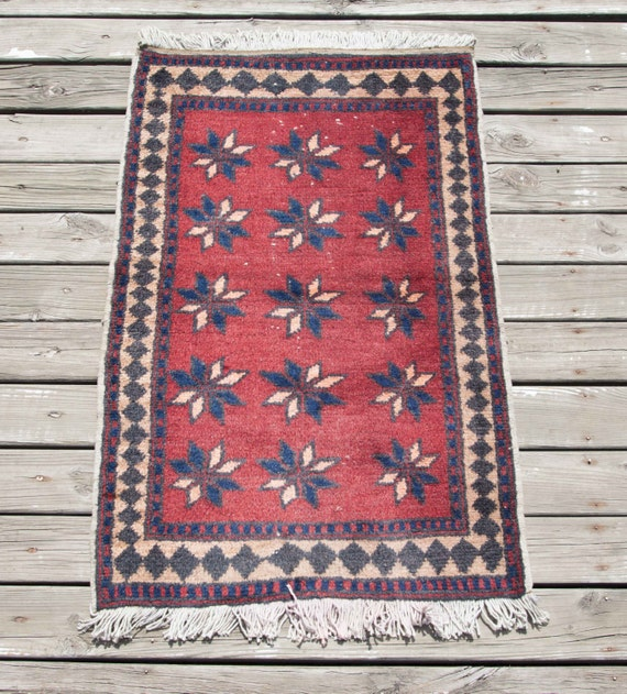 vintage small turkish rug yastik mat all wool