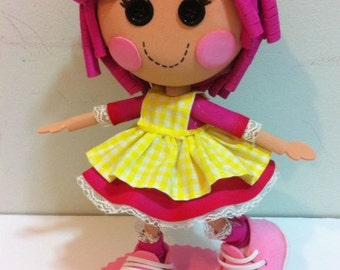 """Lalaloopsy doll fofucha 12 """", handmade with fomy, rubber eva"""