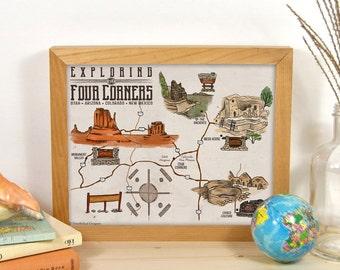 Road Trip Etsy - Printable us driving map