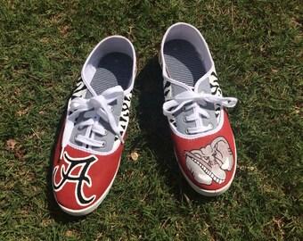 Alabama Crimson Tide painted tennis shoes!