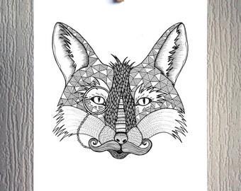 Dapper Fox - A4 Signed Unframed Inkjet Print