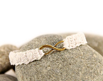 friendship bracelet - infinity bracelet - best friend - crocheted - crochet bracelet - crochet jewellery