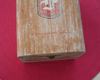 Re-purposed Handmade Wooden Make-up Storage Box