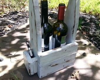 Handmade Reclaimed Wood Wine Tote