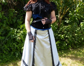 Skirt Victorian Steampunk, bustle skirt, customizable