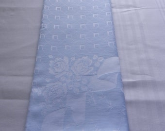 Rayon Damask Tablecloth, Pale Blue, 1950s