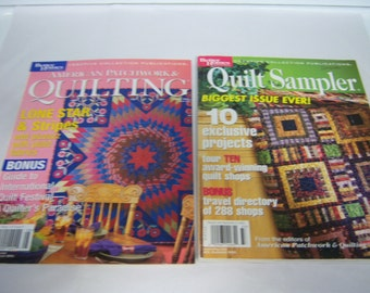 American Patchwork and Quilting Magazine, Quilt Sampler, 2003 Issues, Better Homes and Garden, Two Magazines, Great Patterns, Good Condition