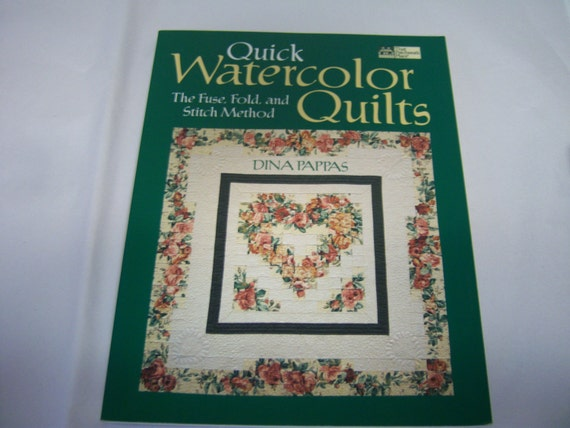 Book Cover Watercolor Quilt : Quick watercolor quilts by dina pappas the patchwork