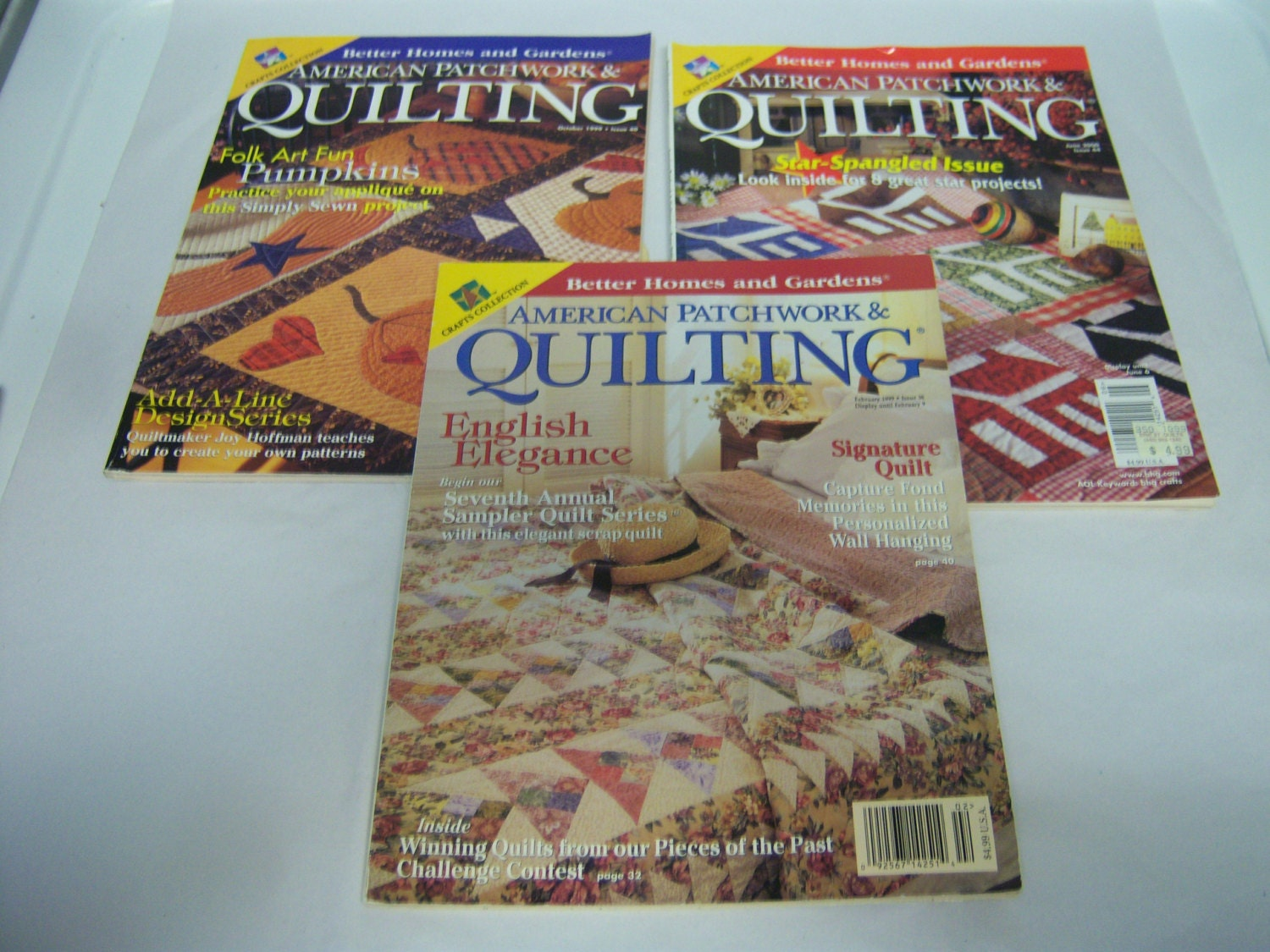Three Quilting Magazines American Patchwork And Quilting